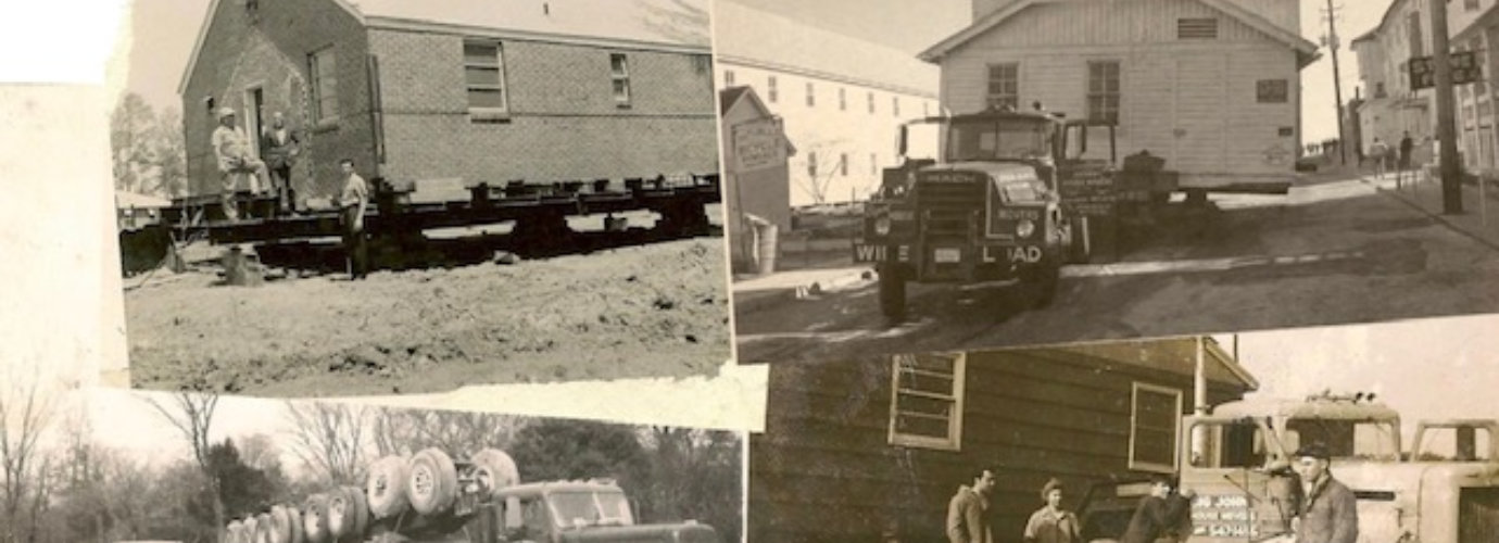 old pictures of people moving house